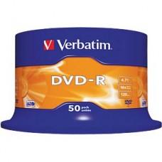 VERBATIM DVD-R 4,7 VER50 Verbatim DVD-R 4.7 GB, 50-disc cake box