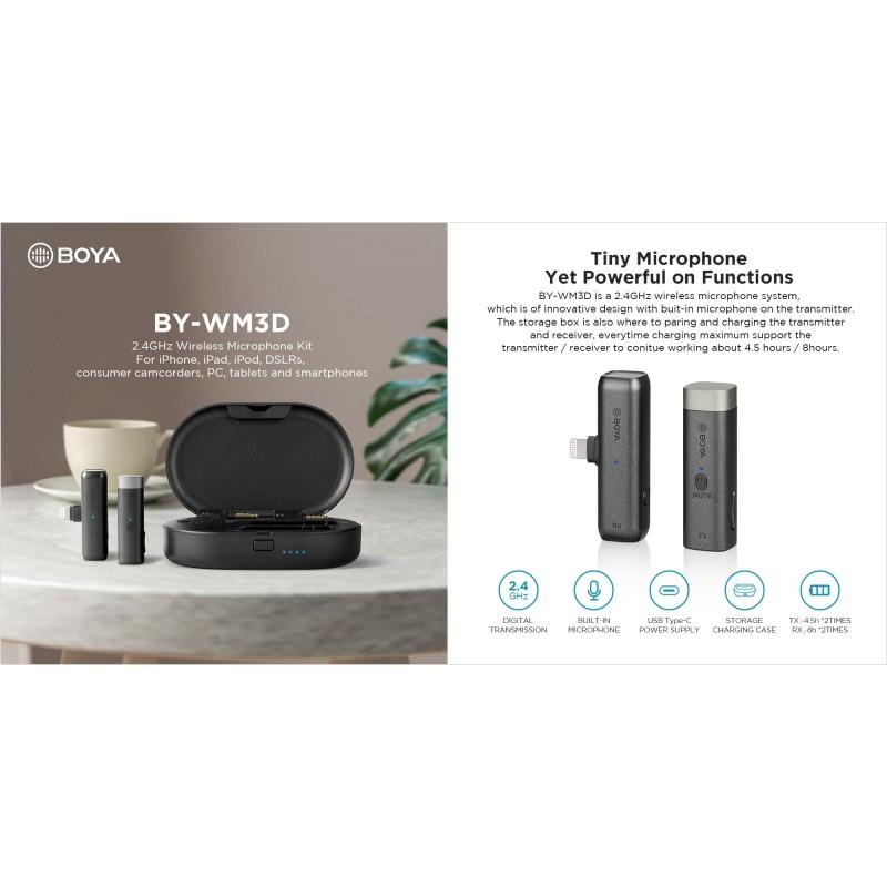 BOYA BY-WM3D 2.4GHz Microphone (TYPE-C) Package