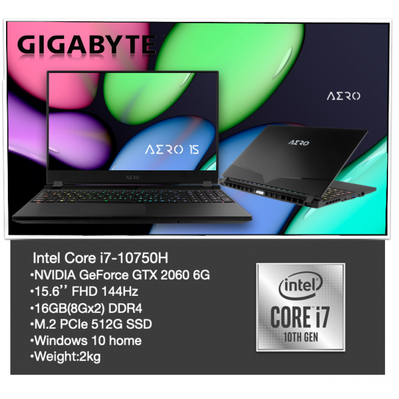 AERO 15 (INTEL 10TH GEN) | LAPTOP - GIGABYTE KB