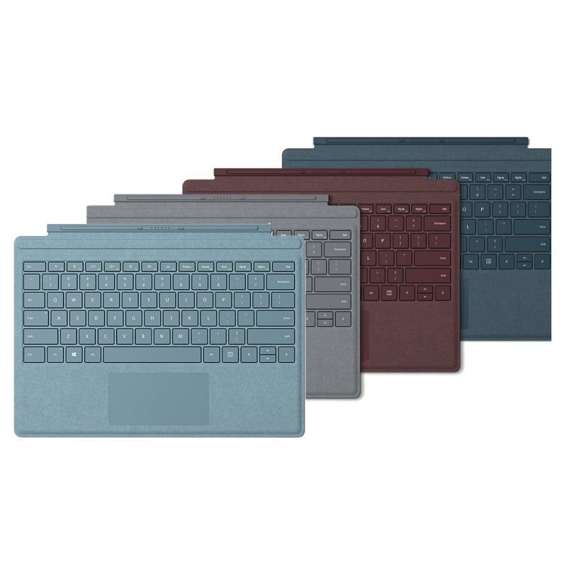 Microsoft Surface Pro Signature Cover (Burgundy,Light Charcoal,Ice Blue,Poppy Red English Keyboard)